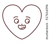 isolated heart cartoon design   Shutterstock .eps vector #517616596