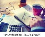 success growth development... | Shutterstock . vector #517617004