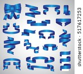 ribbon icons set   vector... | Shutterstock .eps vector #517617253