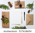 vintage gift boxes in craft... | Shutterstock . vector #517618654