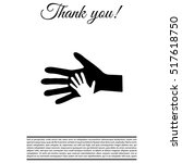 helping hand icon | Shutterstock .eps vector #517618750