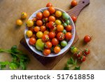 ripe fresh multicolored cherry... | Shutterstock . vector #517618858