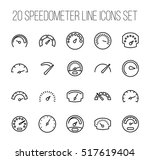 set of speedometer icons in... | Shutterstock .eps vector #517619404
