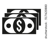 dollar bill flat icon. paper...