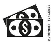 dollar bill flat icon. paper...