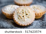 closeup of christmas mince pies ... | Shutterstock . vector #517623574