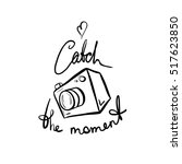 vector illustration of a camera.... | Shutterstock .eps vector #517623850