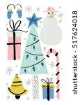 handdrawn elements for... | Shutterstock .eps vector #517624018