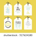 collection of handdrawn... | Shutterstock .eps vector #517624180