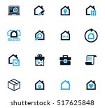 real estate icons set for web... | Shutterstock .eps vector #517625848
