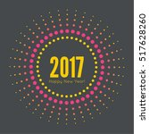 round banner with rays. happy... | Shutterstock .eps vector #517628260