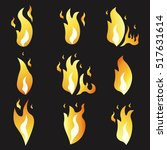 set of animation fire and... | Shutterstock .eps vector #517631614
