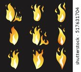 set of animation fire and... | Shutterstock .eps vector #517631704