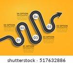 road way location infographic... | Shutterstock .eps vector #517632886