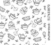 seamless pattern with hand... | Shutterstock .eps vector #517633870