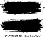 grunge paint stripe . vector... | Shutterstock .eps vector #517636420