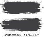 grunge paint stripe . vector... | Shutterstock .eps vector #517636474