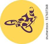 vector bicycle racer | Shutterstock .eps vector #517637368
