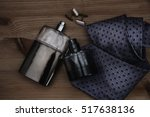 two bottle of perfume with tie  | Shutterstock . vector #517638136