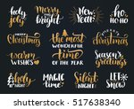 vector handwritten christmas... | Shutterstock .eps vector #517638340