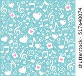 happy st. valentine's day  blue ... | Shutterstock . vector #517640074