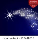 a bright comet with large dust. ... | Shutterstock .eps vector #517648318