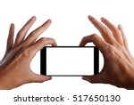 taking picture with mobile ... | Shutterstock . vector #517650130