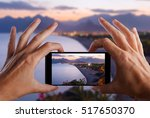 travel concept. hand making... | Shutterstock . vector #517650370