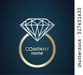 golden silver diamond ring... | Shutterstock .eps vector #517651633
