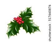 a sprig of mistletoe plants....   Shutterstock .eps vector #517660876