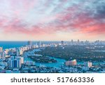 aerial view of miami beach at... | Shutterstock . vector #517663336