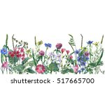 panoramic view of wild meadow... | Shutterstock . vector #517665700