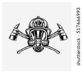 Firefighters Logo Vector Black...