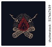 camp campfire logo vector | Shutterstock .eps vector #517667659