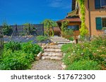 swiss village house at yverdon... | Shutterstock . vector #517672300