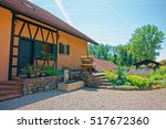 swiss village house in yverdon... | Shutterstock . vector #517672360