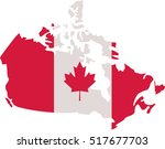 canadian map with canada flag | Shutterstock .eps vector #517677703
