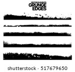 hand drawn edges pattern... | Shutterstock .eps vector #517679650