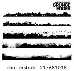 hand drawn edges pattern... | Shutterstock .eps vector #517681018