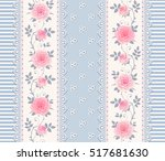 seamless striped pattern with... | Shutterstock .eps vector #517681630