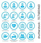 medical services icons set 1  ... | Shutterstock .eps vector #517683460