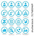 medical services icons set 3  ... | Shutterstock .eps vector #517683469
