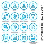 colored medical services icons... | Shutterstock .eps vector #517683484