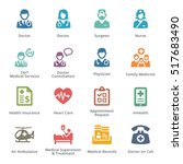 colored medical services icons... | Shutterstock .eps vector #517683490