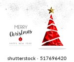 merry christmas and happy new... | Shutterstock .eps vector #517696420