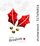 merry christmas and happy new...   Shutterstock .eps vector #517696816