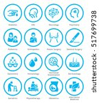 medical specialties icons set 2 ... | Shutterstock .eps vector #517699738