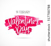 st. valentine's day. the 14th... | Shutterstock .eps vector #517700788