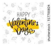 happy valentine's day. the... | Shutterstock .eps vector #517700824