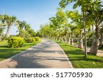 landscape with jogging track at ... | Shutterstock . vector #517705930